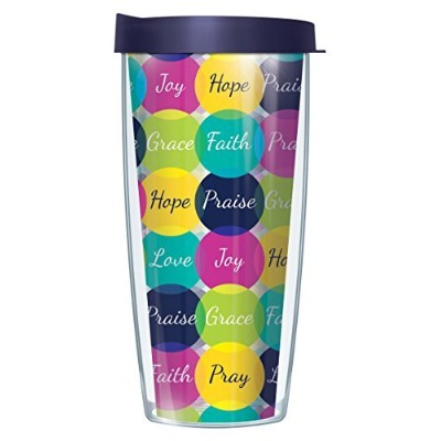 Faith WordsクリアラップタンブラーMug with Lid 22 Oz 08-WOR1-CL+L