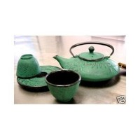 Japanese Cast Iron Tea Set Tetsubinグリーン竹ts9 / 06g