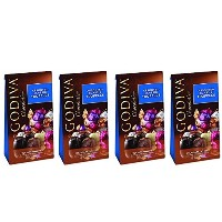 (ゴディバ チョコレートトリュフ) Godiva ASSORTED CLASSIC TRUFFLES Milk Dark White 4.25 Ounce Bag - Pack of 4