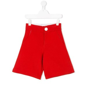 Marni Kids contrast button shorts - レッド