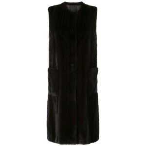 Liska sleeveless fur coat - ブラウン