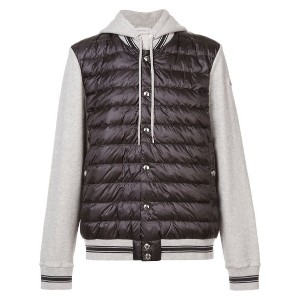 Moncler puffer Maglia cardigan jacket - ブラック