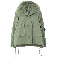 Yves Salomon Army military hooded jacket - グリーン