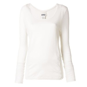 Kristensen Du Nord scoop neck long sleeve top - ホワイト