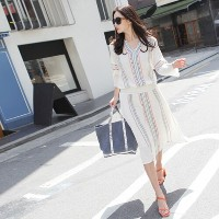 [zoozoom] V-neck ethnic embroidery dress 2color / 26666