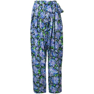 Vika Gazinskaya floral print high-waisted trousers - ピンク&パープル