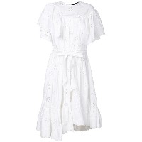 Simone Rocha openwork lace ruffle trim dress - ホワイト