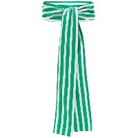 Peter Taylor striped scarf - グリーン