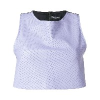 Coup De Coeur perforated detail crop top - ピンク&パープル