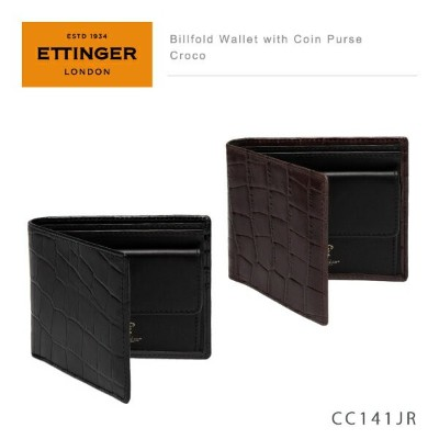 【LaG After SALE 開催中】【送料無料】【並行輸入品】『Ettinger-エッティンガー-』Billfold Wallet with Coin Purse Croco 〔CC141JR〕