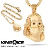 KING ICE キングアイス THE MASKED BENJAMIN FRANKLIN NECKLACE メンズ レディース ネックレス ゴールド ONE SIZE