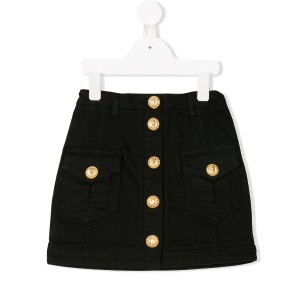 Balmain Kids denim skirt - ブラック