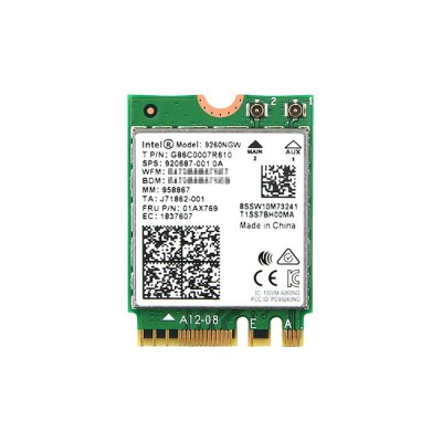インテル Intel Wireless-AC 9260 5GHz/2.4GHz 802.11ac MU-MIMO 1.73Gbps Wi-Fi + Bluetooth 5 Combo M.2...