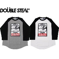 DOUBLE STEAL DOUBLESTEAL ダブルスティール ラグラン ロンT 長袖 WANTED DOUBZ L/S TEE 941-14013 OLLIE SAMURAI オーリー...