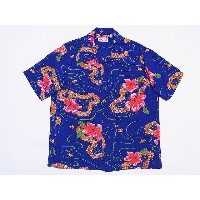 SUN SURF[サンサーフ] アロハシャツ HIBISCUS BY THE SEA SS36423 (BLUE) 送料無料 代引き手数料無料 【RCP】