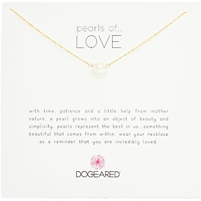 "[ドギャード] Dogeared Pearls of Love large white freshwater pearl on gold dip ネックレス 18"" P10 G200 072004..."