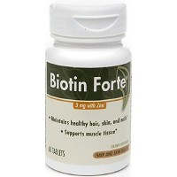 海外直送品Enzymatic Therapy Biotin Forte with Zinc, Zinc 60 tabs 3 Mg(Pack of 3)