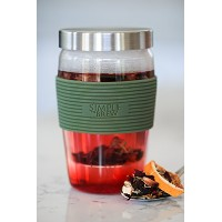 Simple to Brew Loose Leaf Tea Infuser Cup WithガラスStrainerふた、ステンレススチール、絞らトレイ