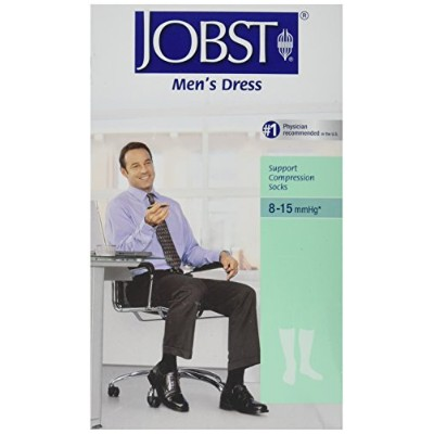 Jobst 110799 Mens Dress 8-15 mmHg Closed Toe Knee Highs - Size & Color- Khaki X-Large