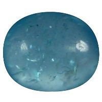 アパタイト ルーズジェームズ 1.36 ct AAA Oval Cabochon Shape (7 x 6 mm) Brazilian Paraiba Blue Apatite Gemstone