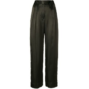 Forte Forte high waisted trousers - グリーン