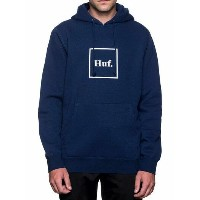 HUF Outline Box Logo Pullover Hoodie Navy M パーカー