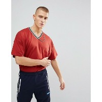 エイソス メンズ Tシャツ トップス ASOS Oversized V Neck T-Shirt With Tipping Autumn