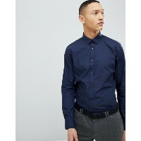 ニュールック メンズ シャツ トップス New Look Poplin Shirt In Regular Fit In Navy Navy