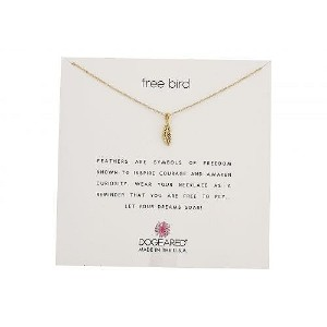 Dogeared ドギャード レディース 女性用 ジュエリー 宝飾品 ネックレス Dogeared ドギャード Free Bird, Open Feather Necklace - Gold...