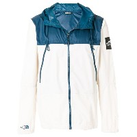 The North Face contrast zipped jacket - ブルー