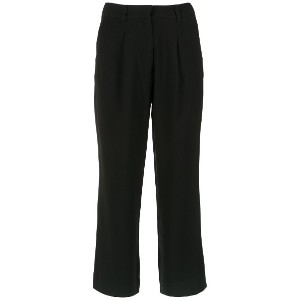 Egrey pleated cropped trousers - ブラック