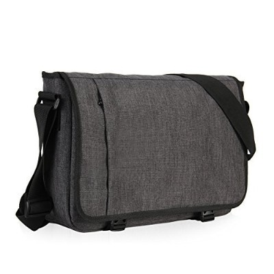 Hynes Eagle Laptop Messenger Bag for 15インチ L グレー HE0669-2