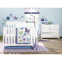 NoJo Beautiful Butterfly 9-Piece Crib Bedding Set by NoJo