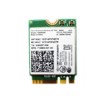 Intel Dual Band Wireless-AC 7260 867 Mbps+ Bluetooth 4.0 7260NGW