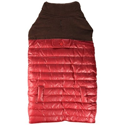 Fashion Pet Outdoor Dog Cord Puffy Vest, Large, Red by Fashion Pet