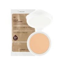 "THE FACE SHOP GOLD COLLAGEN AMPOULE COVER CAKE ""Refill"" (V201 APRICOT BEIGE) / [ザフェイスショップ]..."