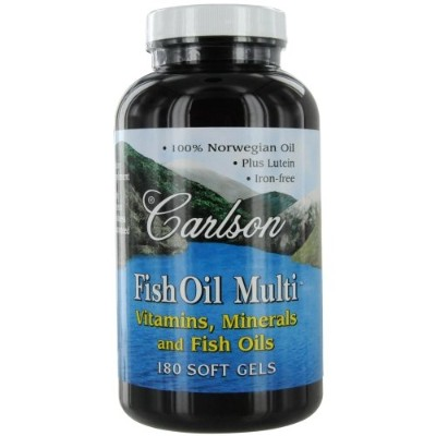 Carlson Labs Fish Oil Multi, Vitamins Minerals and Fish Oils, 180 Softgels by Carlson Laboratories