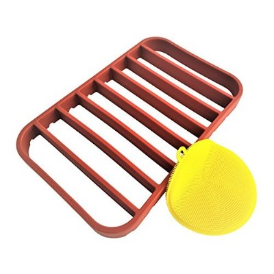 (1, Red) - Stan Boutique 27cm x 18cm Nonstick Roasting Rack for Oven, Fits Quarter Sheet Size...