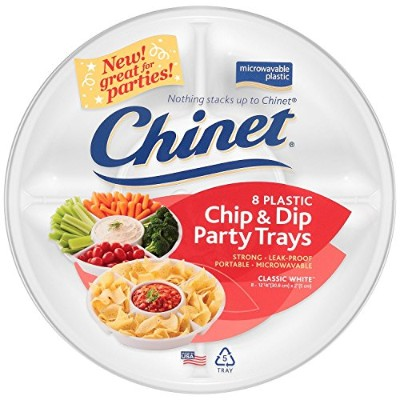 Chinet Chip and Dip Trays, 8 Count by Chinet