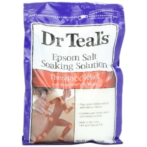 Dr. Teal's Epsom Salt Soaking Solution, Rosemary and Mint, 48 Ounce by Dr. Teal's