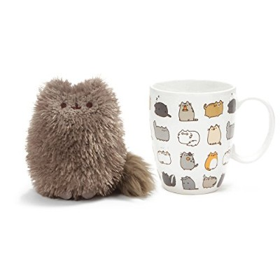 Pusheen 's Little Brother PIP AND Pusheen KittiesマグカップandコースターGift Set