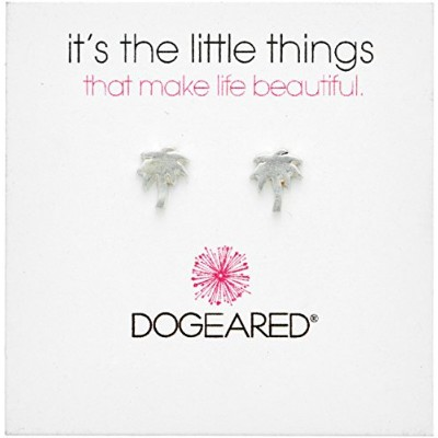 [ドギャード]Dogeared It's The Little Things, Smooth Palm Tree Silver Stud Earrings ピアス ジュエリー[並行輸入品]