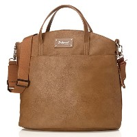 Babymel Grace Faux Leather Satchel Diaper Bag, Tan by Babymel
