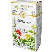 Celebration Herbals, Organic, Herbal Tea, Bilberries, Caffeine Free, 24 Tea Bags, 1.34 oz (38 g) ...