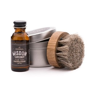 Wisdom Beard Oil with Horsehair Beard Oil Brush Set | Natural, Woodsy Scent by CanYouHandlebar