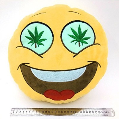 Weed Eye High Unique SmileyユニコーンEmoticon Pigクッション犬ぬいぐるみBunnyウサギソフトPlush Toy ( Weed Eyes )
