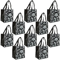 ReBagMe (TM) Set of 10 Large Reusable Grocery Bag Totes with Extra Reinforced Handles Sewn Down to...