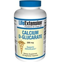 海外直送品Calcium D-Glucarate, 200 mg, 60 Vcaps by Life Extension