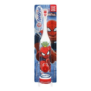 海外直送品 Arm & Hammer Arm & Hammer Spinbrush Spiderman Power Toothbrush For Kida, 1 each