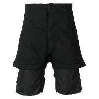 11 By Boris Bidjan Saberi layered knee length shorts - ブラック